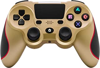 $45 » KJYT Wireless Game Controller Compatible with Playstation 4 System, for PS4 Console with Double Shock and Charging Cable Gold