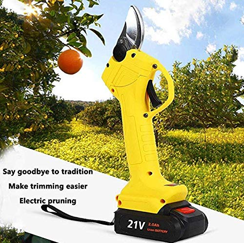 Cortador Eléctrico de Ramas Podadora inalámbrico Tijera 21V batería de iones de litio, herramienta de corte eléctrica recargable para ramas frutales y árboles ásperos, para ramas de hasta 30 mm