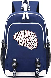 Twenty One Pilots Nylon Bookbag USB Charging Laptop Backpack Hip-pop Travel Bagpack Canvas School Bags Unisex Daypack (12)