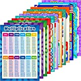 12 Pieces Educational Math Posters for Kids...