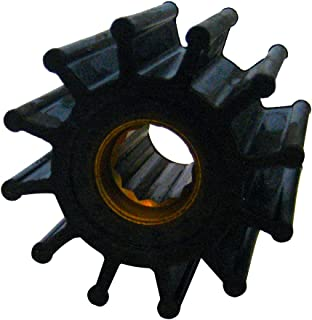 Jabsco 1210-0001-P, Neoprene, Drive Type 7, 12 Blade, 2-1/4 Diameter, 1-1/4 Width, 5/8 Shaft, Brass Insert