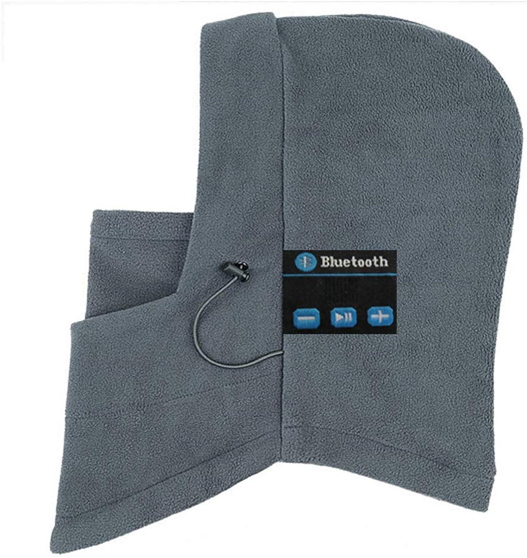 Drawstrings WindResistant Fleece Winter Warm Full Face Mask blueeetooth Wireless Smart Beanie Musical Hat