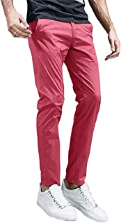 Match Men's Slim Tapered Stretchy Casual Pants #8105