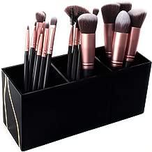 Super Z Outlet Cosmetic Makeup Black Organizer for Lipstick, Eyeliner Brushes, Lip Pencil Display Rack 3 Slot Vanity Top Holder