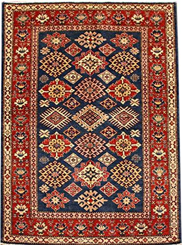ETFA Kazak Teppich Orientteppich - 203x125 cm - Blau - LAGERVERKAUF