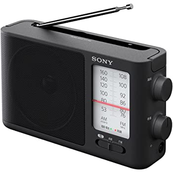 ソニー ポータブルラジオ ICF-506 : FM/AM/ワイドFM対応 電池駆動可能(単3形3本) ブラック ICF-506 C