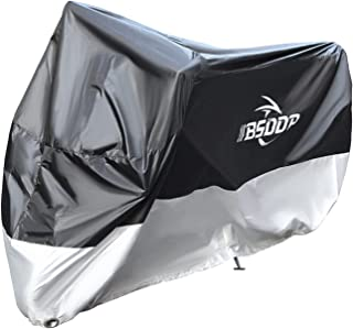Benkeg 230x95x125 Motorcycle Cover with Keyhole– All Season Waterproof Outdoor Protection Against Dust, Debris, Rain and W...