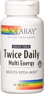 Solaray Multi Energy No Iron, Two Daily, Capsule (Btl-Plastic)   60ct