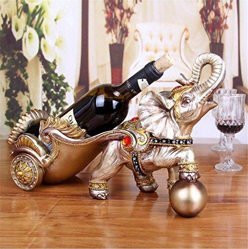 Madaye Resina Europeo Elefante Carrello Rack Vino Armadio Vino Decorazione Ornamenti 40*16*26Cm