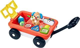 Fisher-Price Laugh & Learn Pull & Play Learning Wagon, pull-toy wagon with music, lights, and learning songs for babies & ...