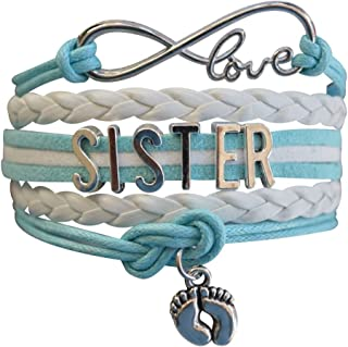 Infinity Collection Sister Bracelet -Sister Jewelry- Sister Charm Bracelet, Big Sister Bracelet for Girls for Sisters