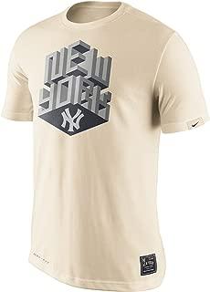 Nike New York Yankees 3D Block Metallic Dri-Fit Cotton Men's T-Shirt