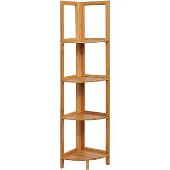 E-starain LIUA001 Estantería Esquina de Bambú para Ducha Estante Escalera de Macetas Baño Cocina 4 Niveles 27x38x120cm: Amazon.es: Bricolaje y herramientas