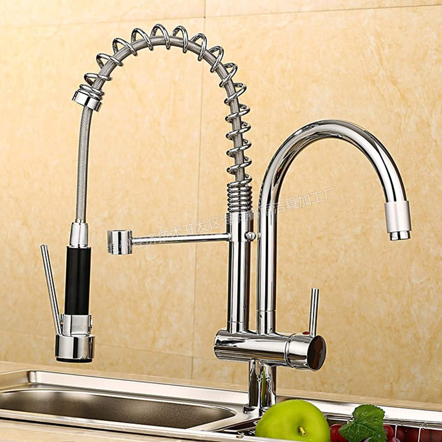redOOY Taps Faucet Kitchen Double Faucet Kitchen Double Faucet Hot And Cold Water Faucet