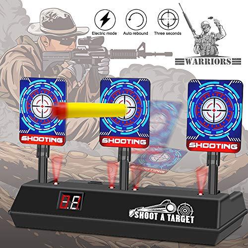 Mitening Nerf Zielscheibe, Zielscheibe für Nerf Digitale Auto Reset Elektro-Schießscheiben Automatische Wiederherstellung Zubehör für Nerf Alle Spielzeugblasters