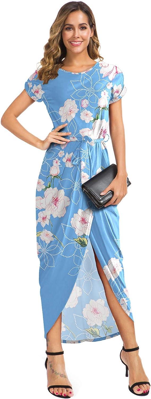 GRECERELLE Women's Topics on TV Short Sleeve Summer Waist Elastic Dresses Sli Selling rankings