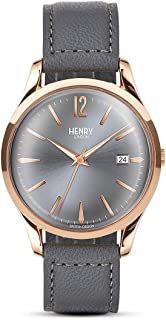 Henry London Ladies Analogue Finchley Watch with Cool Grey Leather Strap HL39-S-0120