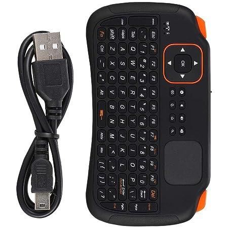 Teclado inalámbrico 2.4G, 83 teclas, teclado inalámbrico 2.4G con panel táctil inteligente de alta sensibilidad, soporte para métodos de entrada en ...
