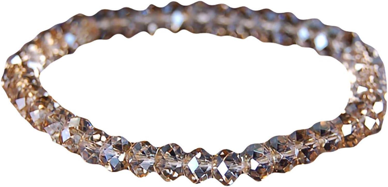 Bracelets for Teen Girls,Bracelet Faux Crystal Beads Shiny Women Exquisite Elastic Bangle Bracelet for Party