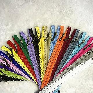 comprar comparacion WKXFJJWZC 40pcs Encaje Cerrado Extremo Cremalleras 3# 40cm Nylon para Bolsos Bolsos Multicolor Costura (Mix)