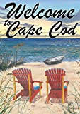 Toland Home Garden Adirondack Paradise Welcome to Cape Cod 28 x 40 Inch