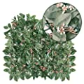 Goasis Lawn Artificial Hedge Fence Panels Topiary Hedge Boxwood Plant Privacy Screen Outdoor Indoor Use Garden Fence Backyard Home Decor Greenery Walls