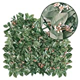 Goasis Lawn Artificial Hedge Fence Panels Topiary Hedge Boxwood Plant Privacy Screen Outdoor Indoor Use Garden Fence Backyard Home Decor Greenery Walls, 1 Rolls