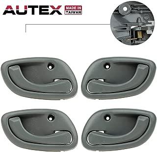 AUTEX Door Handle 4pcs Interior Front Rear Left Right Side Compatible with Chevy Tracker,Suzuki Vitara Grand Vitara 99-05 Replacement for Suzuki Esteem 95-02 Door Handles 80479 80478