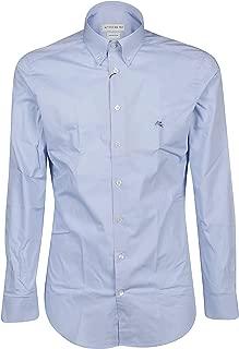 ETRO Luxury Fashion Mens 1K96464000250 Light Blue Shirt |