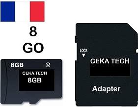 Tarjeta de Memoria Compatible con Cloudfone Go SP, CEKA TECH® Micro-SD 8GB Clase 10 con Adaptador SD