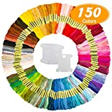 Hohoto Embroidery Thread, Friendship Bracelet String, 150 Skeins Embroidery Floss with 20 Pieces Floss Bobbins...