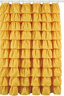 Flamenco Ruffle Shower Curtain (Yellow)
