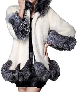 Womens Jacket Coat Cardigan Outwear Long Sleeve Parka Overcoat Winter Faux Fur Coats