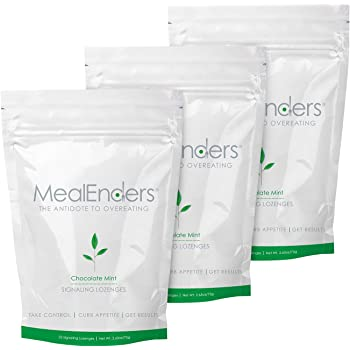 MealEnders Cravings Control Lozenges | Stop Overeating, Curb Cravings and Reduce Snacking | 25-Count Bag (Pack of 3) (Choc. Mint)
