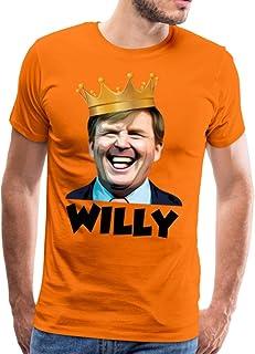 Spreadshirt Willy Koning Willem Alexander Koningsdag Feestje Mannen Premium T-shirt