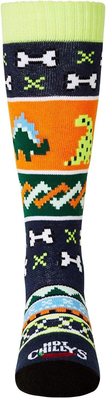 Hot Chillys Youth Dinosaur Mid Volume Sock