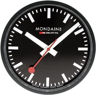 Mondaine A990.CLOCK.64SBB Wall Clock Black Dial Black Frame