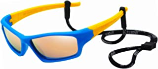 Kids Bendable Polarized Sunglasses for Boys Girls Age 3-10 with Strap
