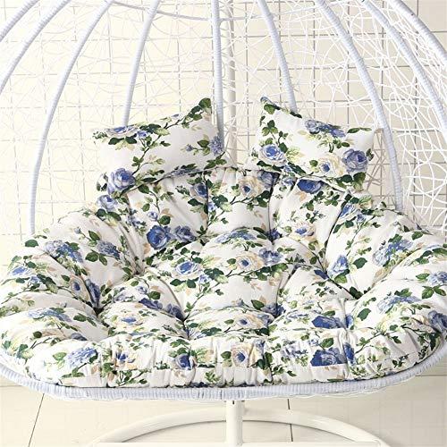 DZWLYX Garten Stuhl Auflage kisse Hängendes Korbstuhl Kissen,Hängesessel Swing,Für Indoor Outdoor Home Terrasse Deck Garten, Lesen Freizeit Anti-rutsch Seat Dämpfung