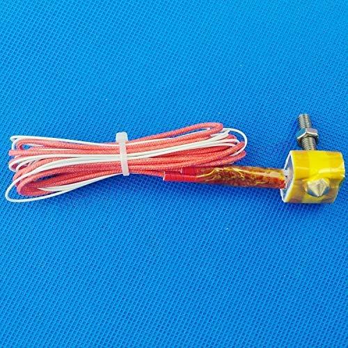 Neigei 1pcs DIY 1.75mm MK8 EXTRUDER Hot End Kit Nozzle+Throat Barriel+Ceramic Cotton 12/24V 40W For Reprap Prusa I3 3D Printer (Size : 24V 40W) (Size : 12V 40W)