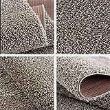 Impression Wohnzimmerteppich - Hochwertiger Öko-Tex zertifizierter Flächenteppich - Solid Color Teppich Hellgrau - Größe 80x150 - 3