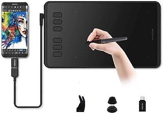 Grafische Tablet, HUION Inspiroy H640P Grafische Tekentablet Pen Stylus Batterijloos 8192 Niveaus Pen Druk Handtekening Pa...