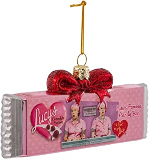 I Love Lucy Kurt Adler 5-Inch Glass Chocolate Bar Ornament