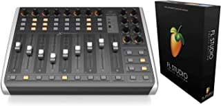 $448 » Behringer X-TOUCH COMPACT MIDI Control Surface Bundled with FL Studio 20 Fruity Edition for Windows and Mac (Download Card)