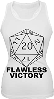 Flawless Victory D20 Role Playing Game White Juniors Tank Top