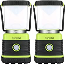 Consciot Ultra Bright LED Camping Lantern with 1000LM, D Battery Powered, 4 Light Modes, Dimmable Water-Resistant Lantern,...