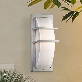 Dualo Modern Outdoor Wall Light Fixture Silver 13 3/4