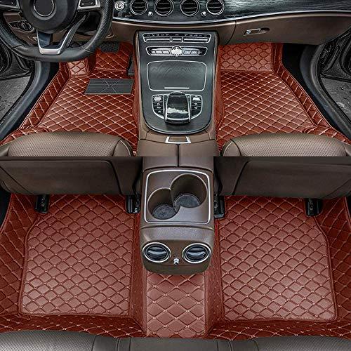 Alfombrillas de Coche para Mercedes Benz A-Class W169 2004-2012 Antideslizantes Impermeable Rodeado Completo Protección para Todo Clima Revestimientos De Alfombra De Cuero Alfombrilla (Marrón)
