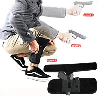 Hidden carrying pistol   Universal leg carrying holster with ammo bag for Glock 42, 43, 36, 26, S&W Bodyguard .380.38, Ruger LCP, LC9, Sig Sauer380, M&P Shield, Sig Sauer, p238, revolver, 38 special ,