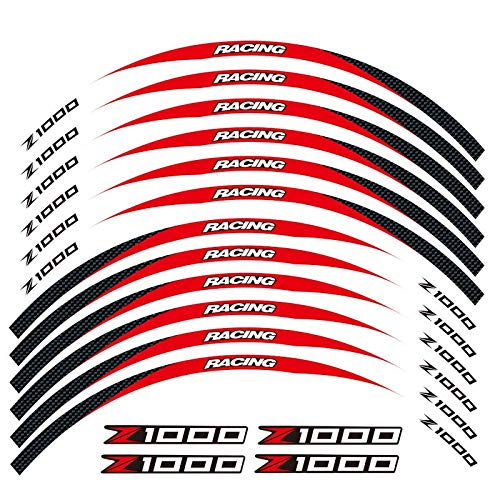 Motos Calcomanías Equipo de Carreras de Motocicletas Accesorios Accesorios Rueda Neumático Rim Decoración Adhesiva Etiqueta de calcomanía para Z1000 Z 1000 Pegatinas (Color : 250085)